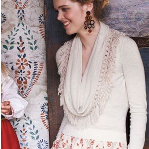 Anthropologie Angel of the North Sweater Fringed M